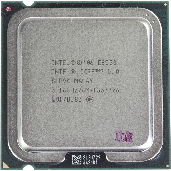 Intel Core2 Duo E8500