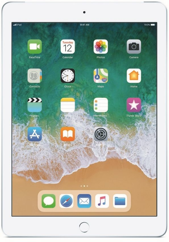 Apple iPad 9.7 (2018) Wi-Fi+Cellular 32GB Silver MR6P2FD/A