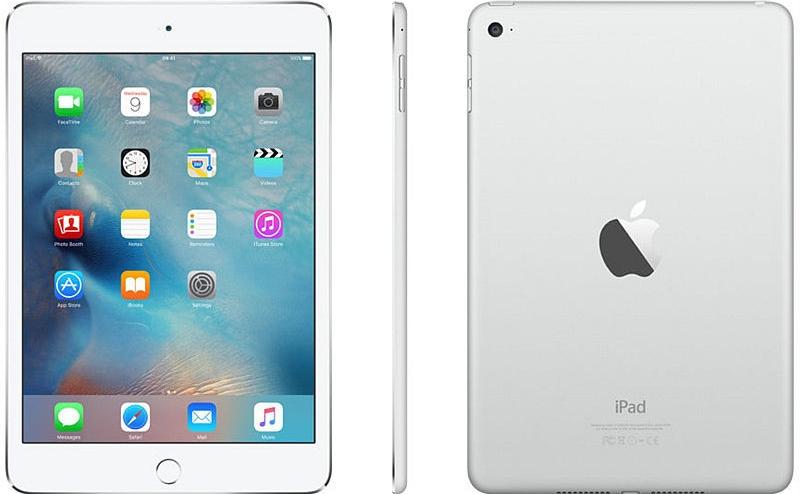 Apple iPad Mini 4 Wi-Fi 16GB Silver MK6K2FD/A
