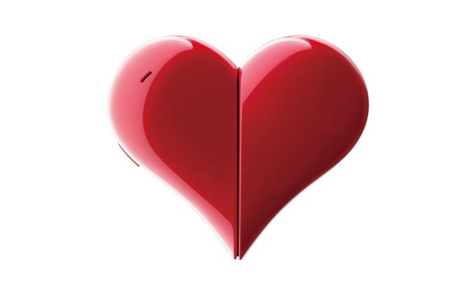 Unikátní telefon ve tvaru srdce: Heart 401AB