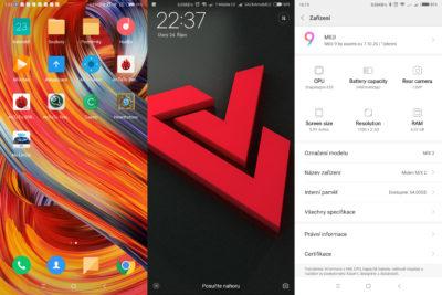 Operační systém Xiaomi Mi MIX 2
