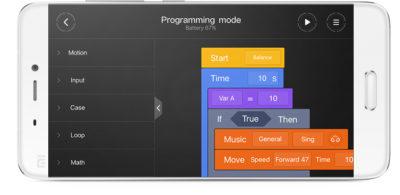 Xiaomi MiTu Robot Builder - mobilní aplikace