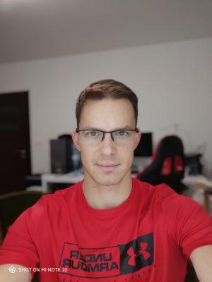 Portrétová selfie fotografie