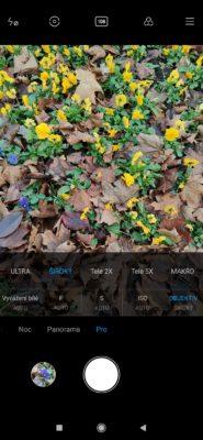 Profi mód fotoaparátu Xiaomi Mi Note 10