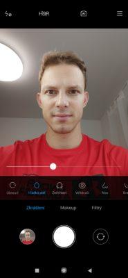 Možnosti zkrášlení přední selfie kamerou