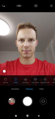Možnosti úpravy makeupu přední selfie kamerou