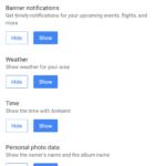 Google Nest Hub - nastavení fotorámečku