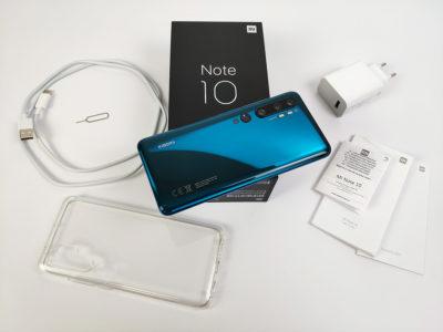 Xiaomi Mi Note 10 - obsah balení