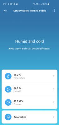 Úvodní obrazovka v aplikaci Mi Home